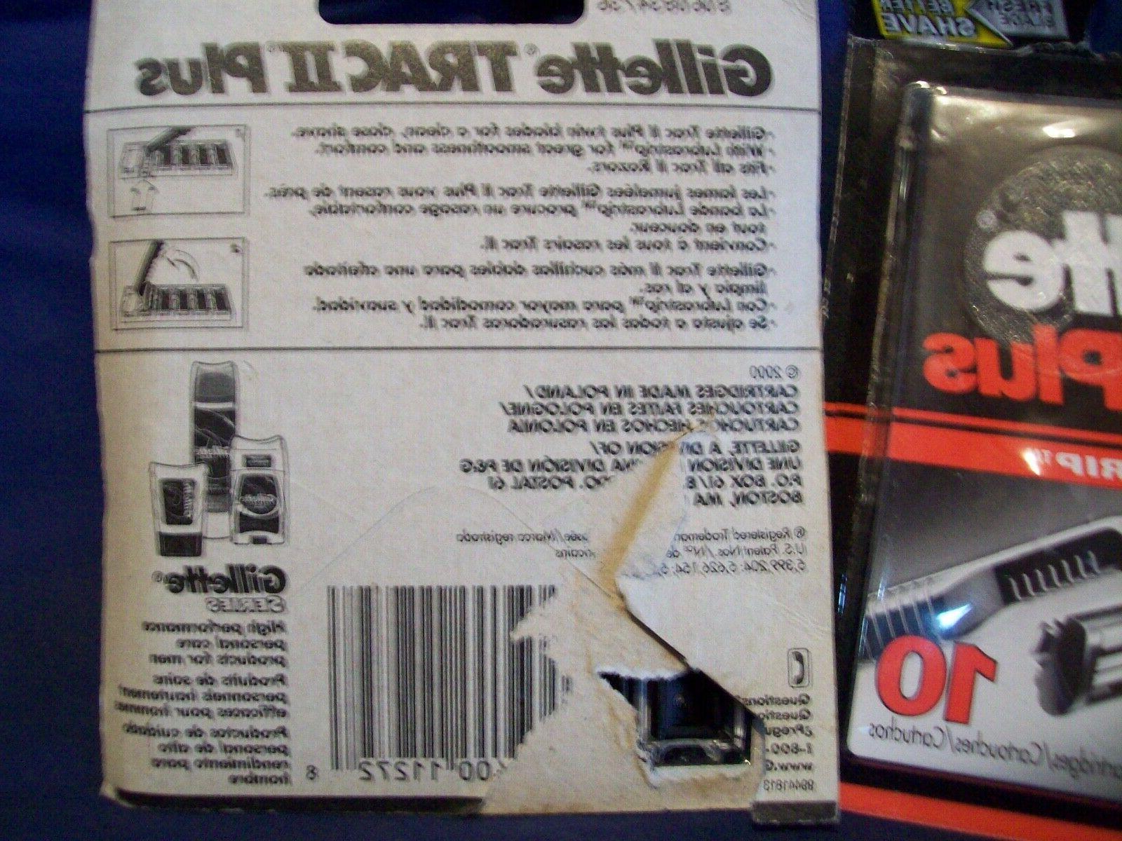 2 Packs Genuine Gillette Trac II Razor Blades Sealed-packs