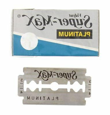 200pcs Super Max Double Razor Stainless Barber