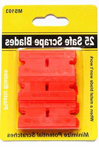 25 Plastic Double Razor Scraper Combo