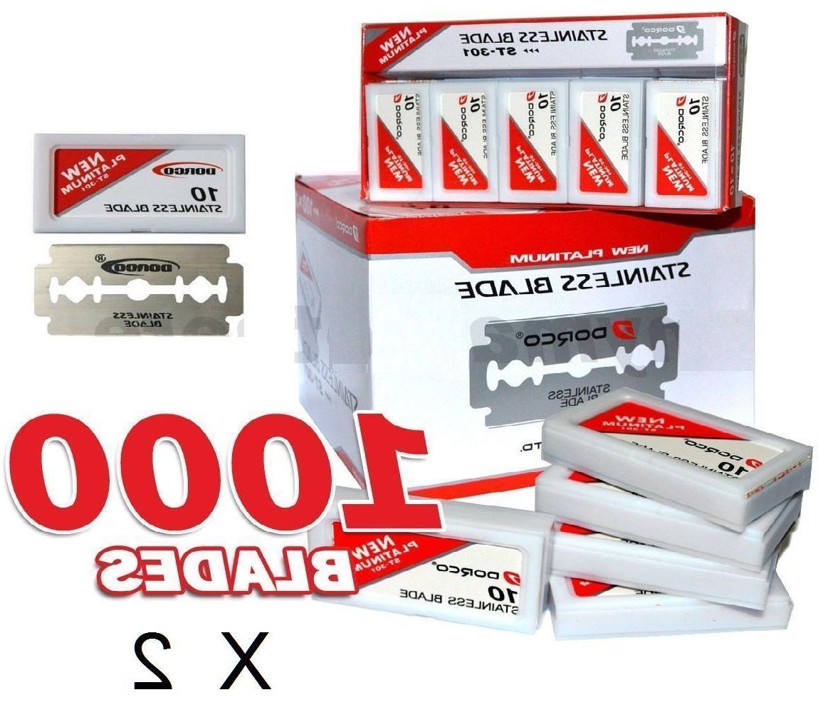 2x 1000 red razor blades case of
