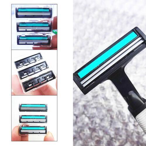 30pcs mens double layer cartridges replacement shaving