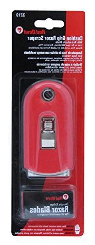Red Devil 3219 Soft Grip Push Pull Window Scraper with 5 Bla