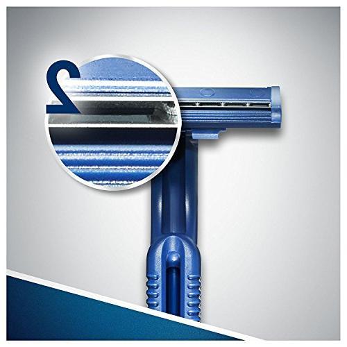 100x Gillette Blue Disposable Razors Dual Plus Chromium Coating x 20