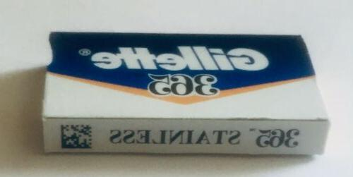 365 stainless razor blades by gillette great