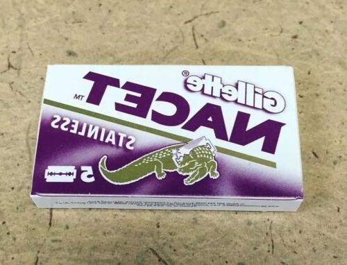 5 double edge razor blades gillette 5