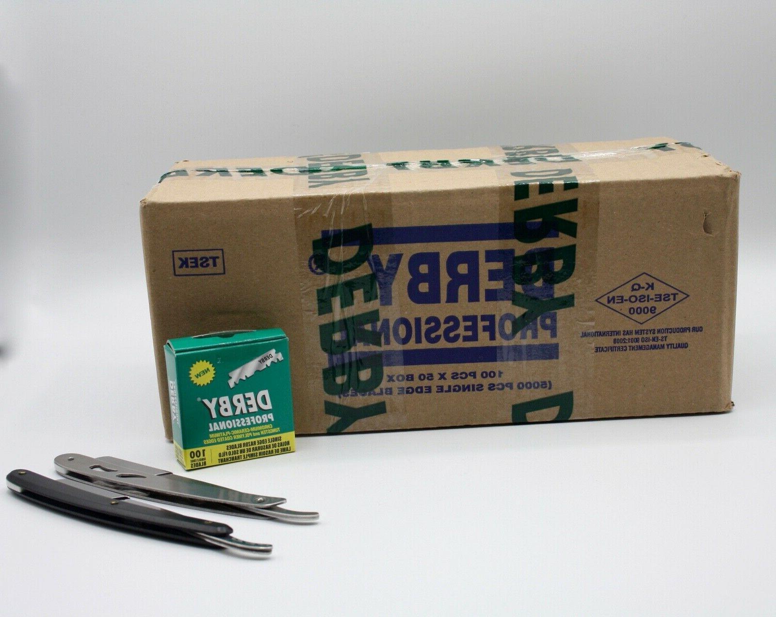 2X 5000 Derby Professional Single Edge Razor Blades +3 metal