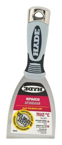 Hyde Tools 6408 3-Inch Stiff Scraper Stainless Steel - Each