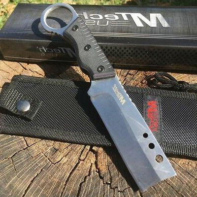 "8"" MTech TACTICAL Hunting KNIFE Handle Sheath NEW"