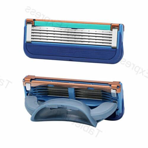 8PCS Gillette Proglide POWER Replacement Blades 5-layer Blue