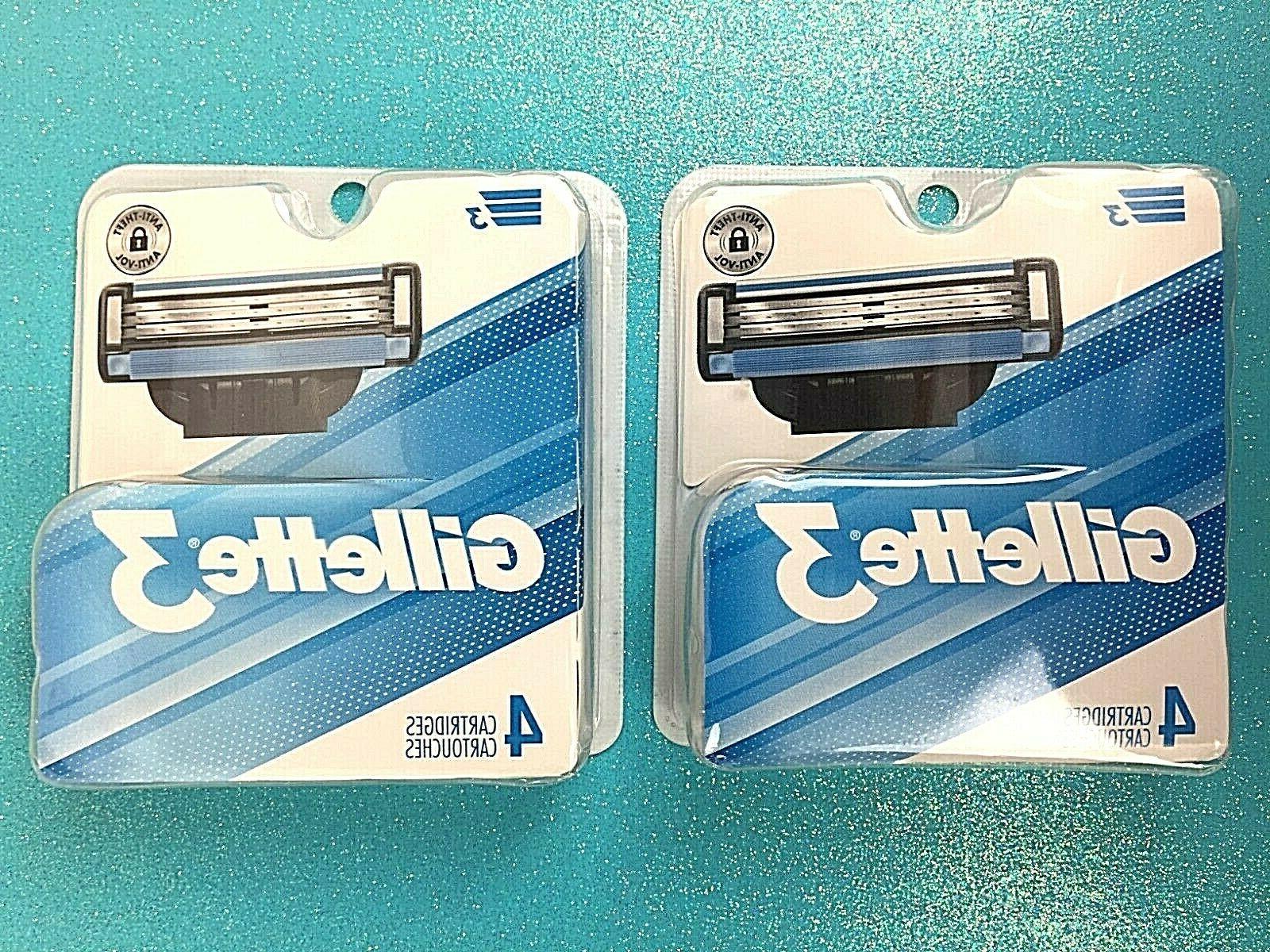 Gillette 3 Cartridges 4 Count
