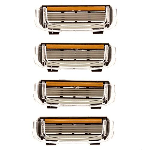 Premium 4-Blade  Replacement Cartridges for Cobra Razors, Le