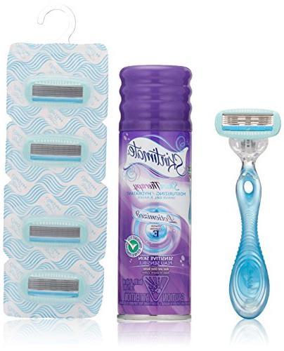 Schick Hydro Silk Shaving Starter Gift Set for Women with Sh