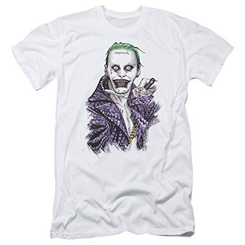 Suicide Squad Joker Damaged Razor Blade Premium Canvas Adult