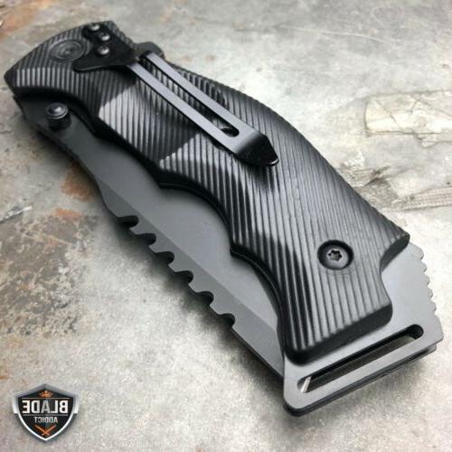 TACTICAL Pocket FOLDING Blade Black