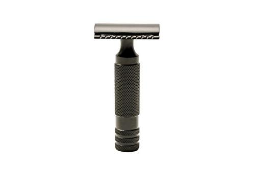 The Oculus Matte Black Stainless Steel Safety Razor from the