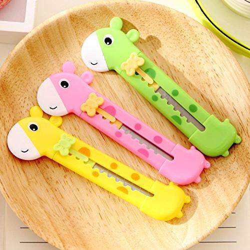 UltimaFio - Cute Giraffe Utility Knife Paper Cutter Cutting