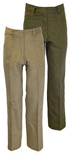 Walker & Hawkes - Mens Classic Moleskin 100% Cotton Pants -