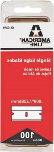NEW LOT OF  HYDE 66-0089 AMERICAN LINE SINGLE EDGE RAZOR BLA