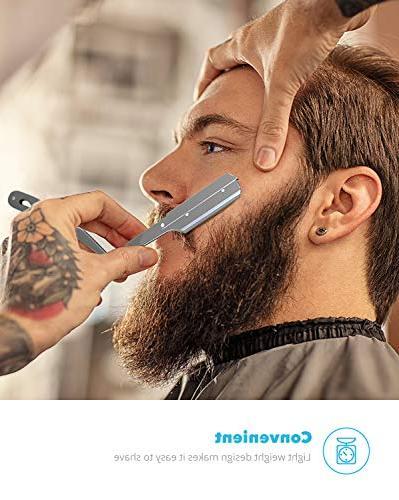 Razor with 100 Edge Derby Blades Close Shaving Manual Shaver
