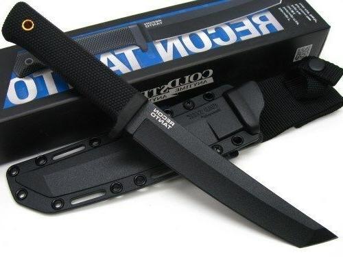 COLD STEEL Straight SK-5 Blade Knife +Sheath! 49LRTZ