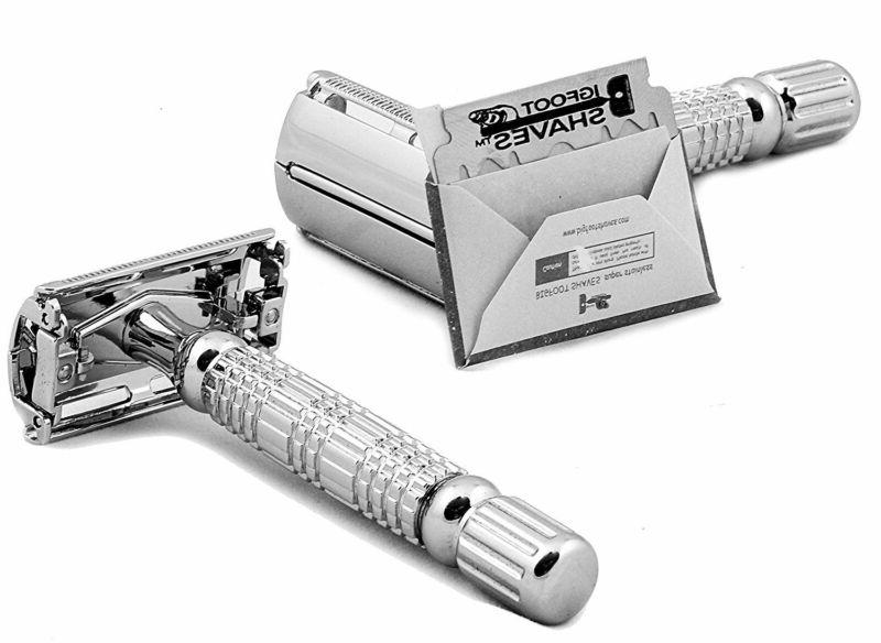 NEW Butterfly Double Edge Single Blade Safety Razor Kit 4 Me