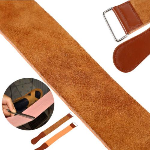 Cow Leather Manual Strop Straight Barber Shaving Razor Blade