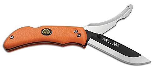 Outdoor Replaceable Razor Knife Gutting Mossy Sheath and 6 3.5