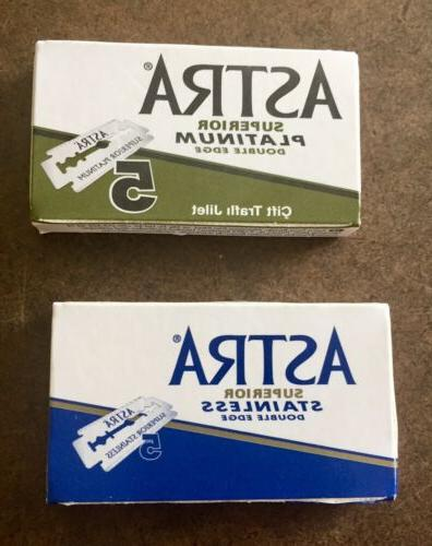double edge razor blades russian combo green
