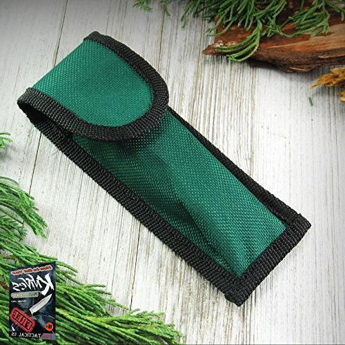 elite folding knife sheath green