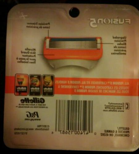 Gillette Fusion5 Power Blades ONE BOX with 4 in