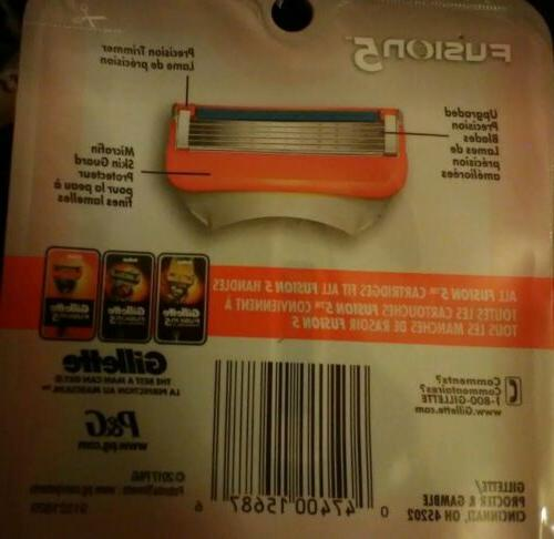 Gillette Fusion5 Blades - with 4 cartridges in it.NEW