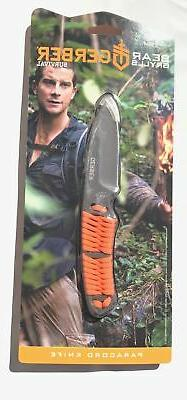 Gerber 31-001683 Bear Grylls Paracord Fixed Blade Knife with