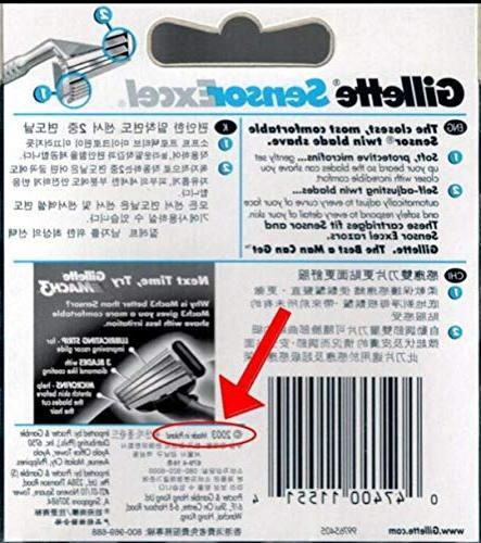 Gillett Refill Blade Cartridges, Ct.