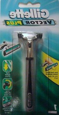 Gillette Vector Razor Handle - Holds ALL Gillette Atra Blade