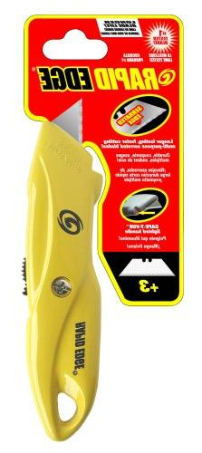 Rapid Edge Heavy-Duty Die-Cast Utility Knife with LED Safety