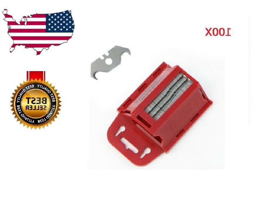 hook utility shingle razor blades with dispenser