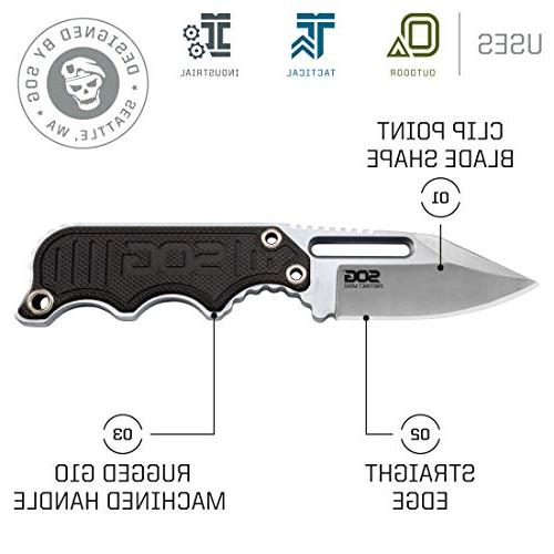 SOG Small Fixed Blade Knives Belt Knife Knife w/Tactical Knife and Neck Knife Chain