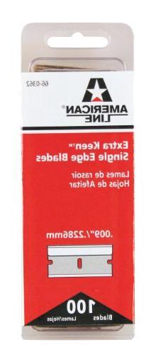 American Safety Razor 66-0362 X-Keen Single Edge Blade Alum