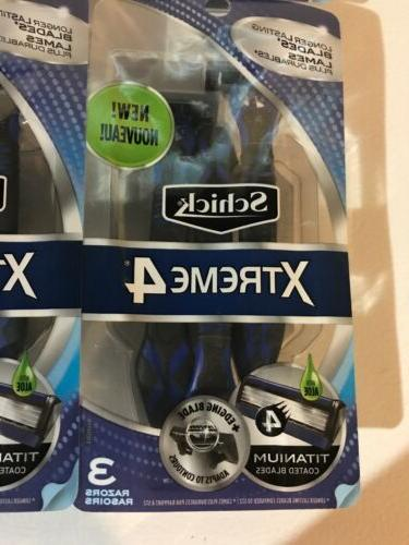 Lot 6 - Schick Xtreme4 Disposable 4 - 3