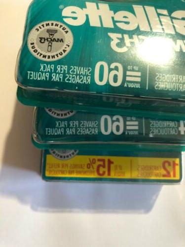 LOT OF 3 Mach3 Refills Count NEWEST