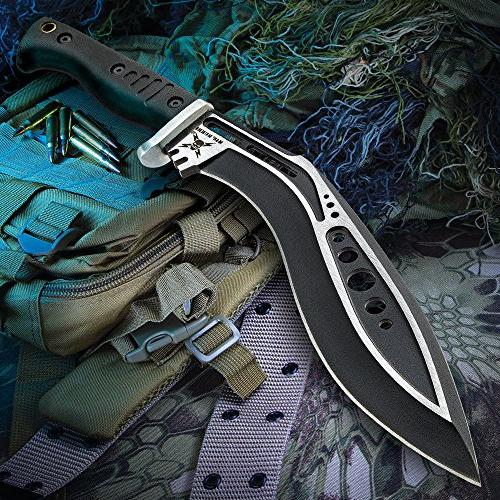 United Cutlery M48 Black Tactical Gurkha Kukri Machete Knife