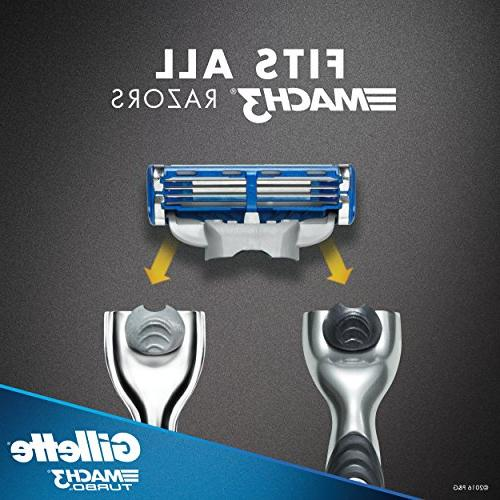 Gillette Mach3 Turbo Razor Blade Refills, Count, Blades