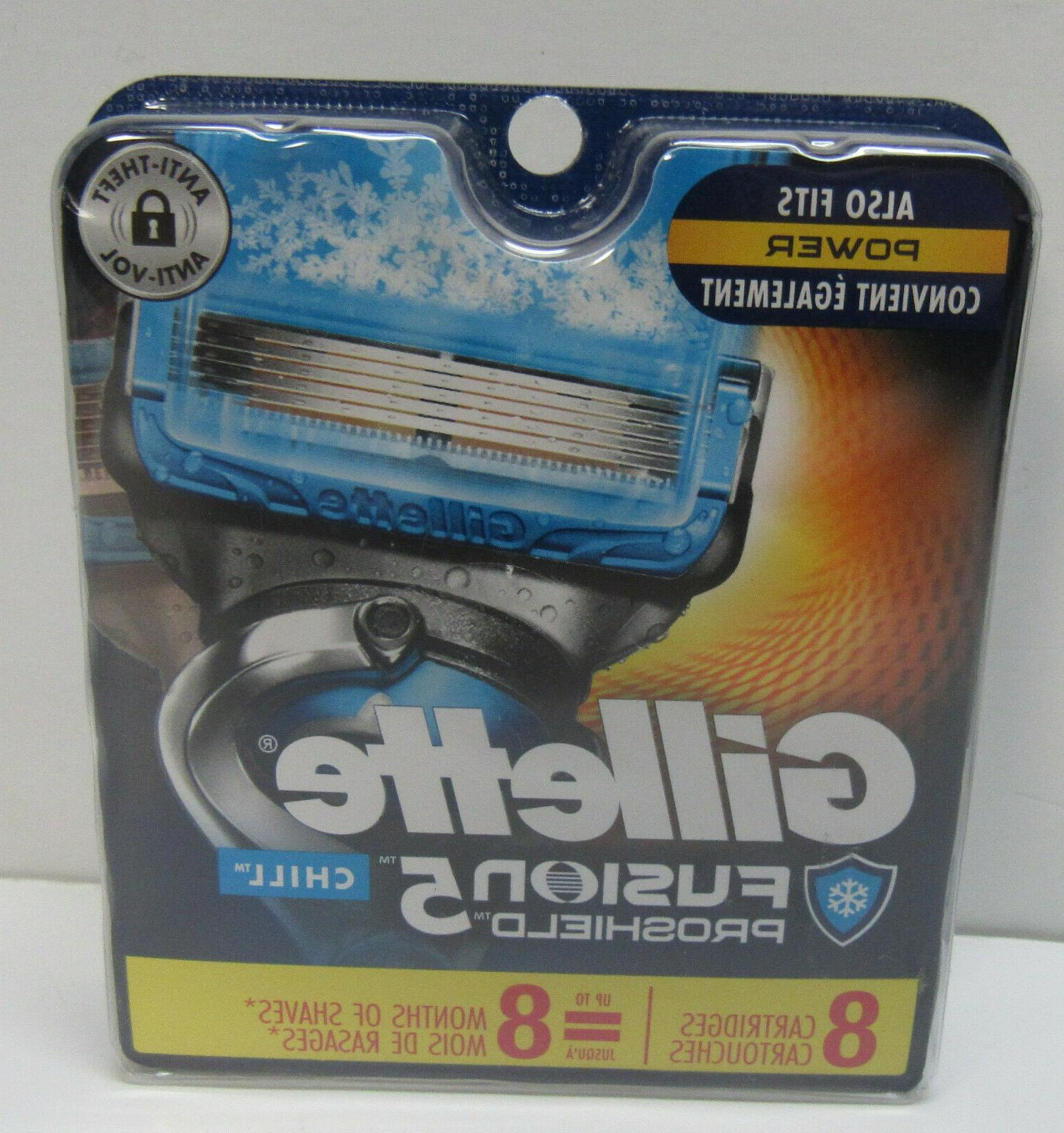 Mens Fusion Chill 8 Cartridges Blade