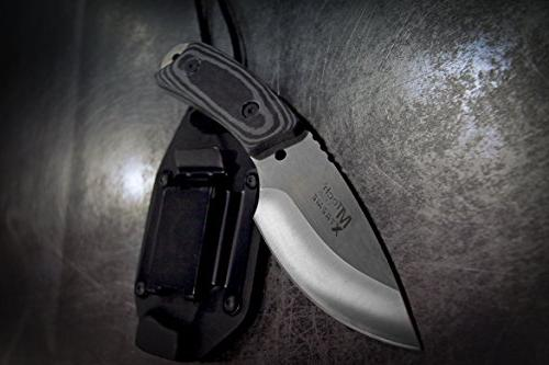 MTech USA Fixed Blade Knife, Black Overall