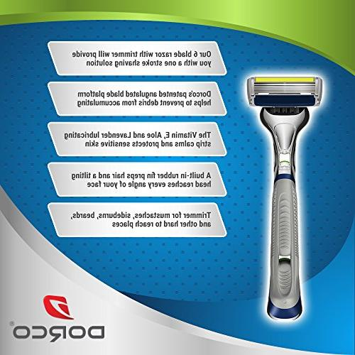 Dorco Pace 6 Plus- Six Blade with Trimmer