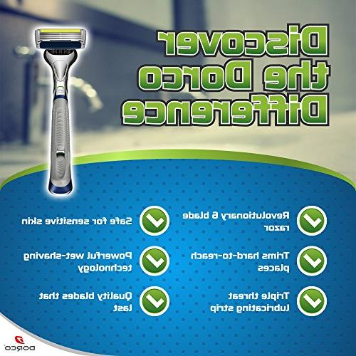 Dorco Pace 6 Plus- Six Blade Razor with Trimmer Pack