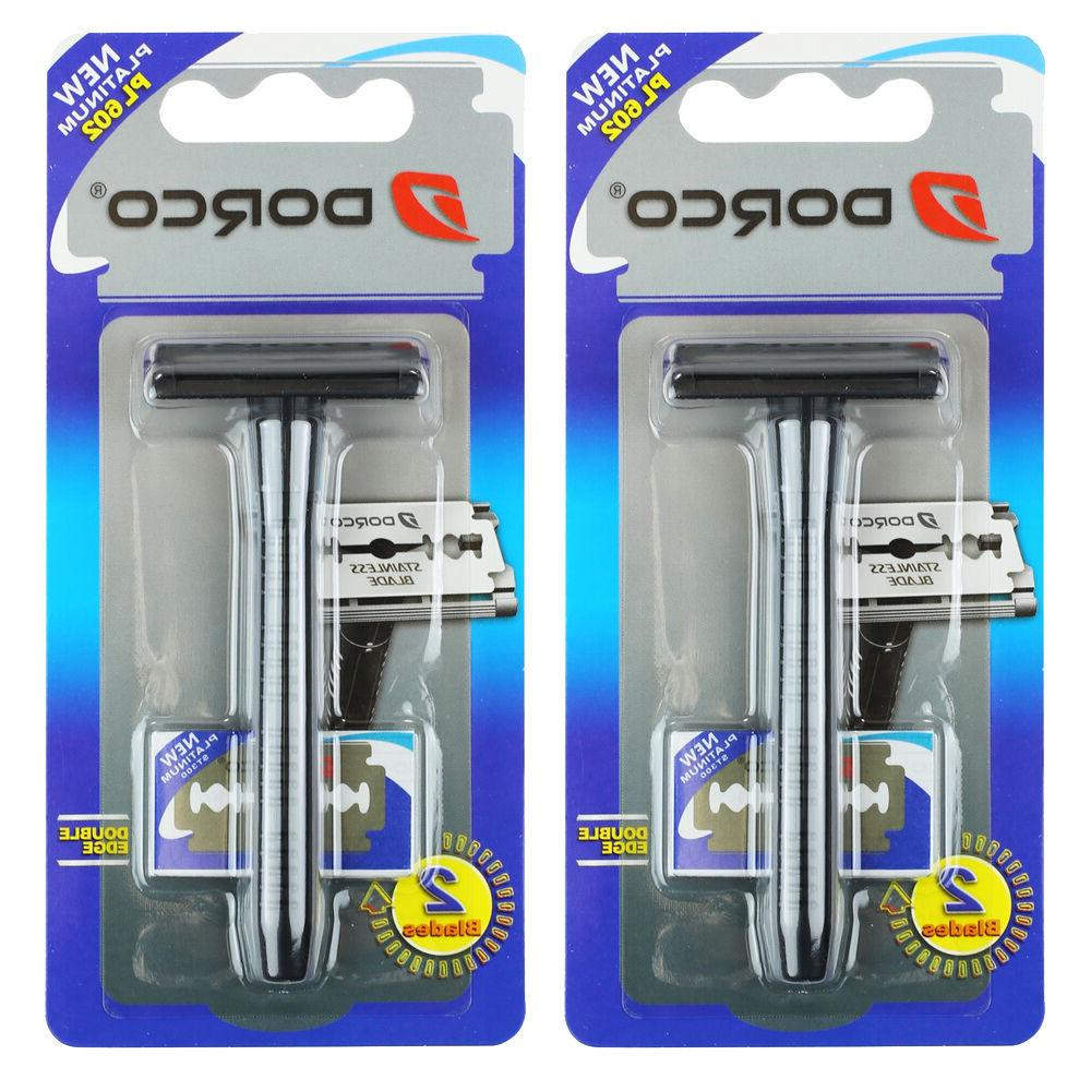 Dorco PL602 Handle + Double Blades Men