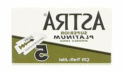 Astra Platinum Double Edge Safety Razor Blades ,100 Blades
