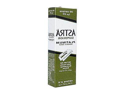 Astra Superior Platinum Double Edge Shaving Razor Blades 200
