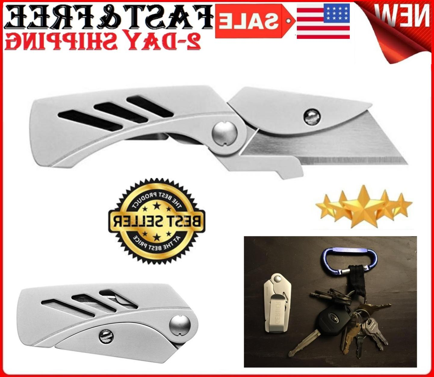 Pocket Knife Outdoor Cutter Work Tool Safety Folding Cutting
